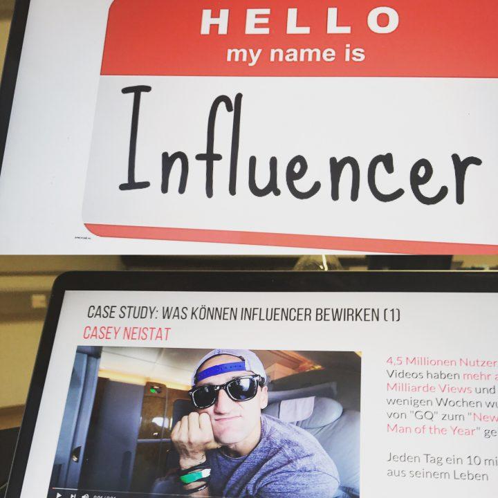 Influencer Marketing Vorlesung Bastian Deurer