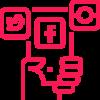 Social Media Bastian Deurer Leistungen Digital Marketing ROT 100x100 - Bastian Deurer | Digital Marketing Freelancer München